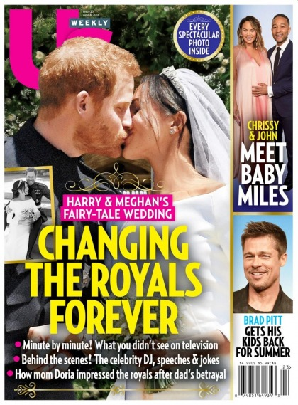 Us Weekly: Prince Harry & Meghan left their wedding party early, hmmm?